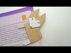 Origami bookmark Husky Dog /พับที่คั่นหนังสือเจ้าหมาฮัสกี้ - YouTube