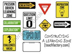 FREE Classroom Construction Signs from Venspired on TeachersNotebook.com (11 pages)