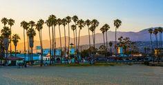 Praia East Beach em Santa Bárbara #viagem #california