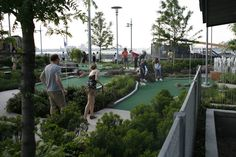 Mini Golf at Hudson River Park's Pier 25 in Tribeca