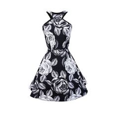 Flower printed cotton skater dress  flower pattern printed on cotton fabric  dress length: 100cm   * S fits for US 4, UK 8, EU36 * M fits for US