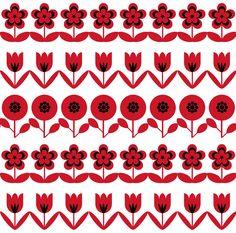 Retro flowers - Trois Miettes