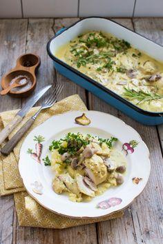 Idealnie miękkie i soczyste podudzia kurczaka w sosie musztardowym, z miodową nutą i dodatkiem pieczarek. Idealne danie na rozgrzewkę!