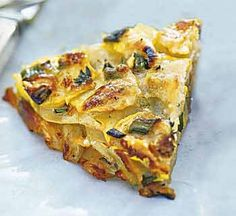 Herbed Summer Squash and Potato Torte with Parmesan recipe
