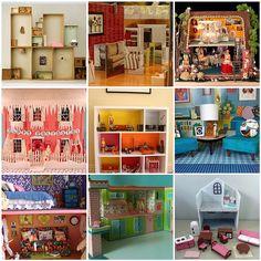 vintage cardboard dollhouses | cardboard dollhouse living room 3 frida kahlo s studio 4 the dollhouse ...