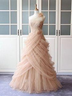 One Shoulder Prom Kleider A-Linie Rüschen langes Abendkleid Sexy Abend Celebrity Prom Dresses, Prom Dresses 2016, Quinceanera Dresses, Pretty Dresses, Sexy Dresses, Vintage Dresses, Blush Dresses, Pink Evening Dress, Evening Dresses