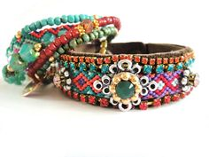 I guess I must be a hippy. I just love these bracelets.                                             Bohemian hippie friendship bracelet suede cuff