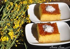 Revani, prajitura cu gris insiropata | Retete culinare cu Laura Sava - Cele mai bune retete pentru intreaga familie Vanilla Cake, Tiramisu, Mai, Cheesecake, Food And Drink, Cooking, Ethnic Recipes, Desserts, Kitchen