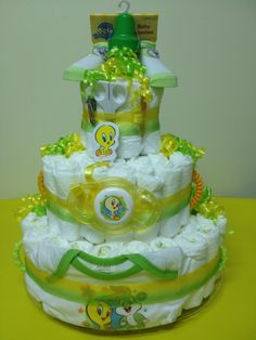 Looney Tunes Diaper Cake