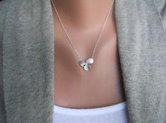 pretty orchid petal necklace