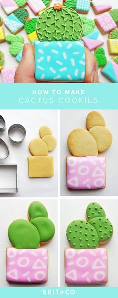 Make these delicious Cactus Cookies to serve at your next party.