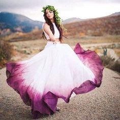 Two Pieces Ombre Prom Dress A-line loor Length Simple Cheap Prom Dresses Long Evening Dress - Wedding dresses - Hochzeitskleid - New Ideas Ombre Prom Dresses, Cheap Prom Dresses, Wedding Dresses, Dresses Dresses, Long Dresses, Dress Prom, Ombre Gown, Woman Dresses, Dresses 2016