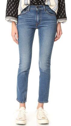 Levi's 505 C Cropped Slim Straight Jeans