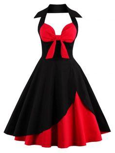 GET $50 NOW | Join RoseGal: Get YOUR $50 NOW!http://www.rosegal.com/vintage-dresses/halter-two-tone-vintage-dress-989080.html?seid=8007098rg989080