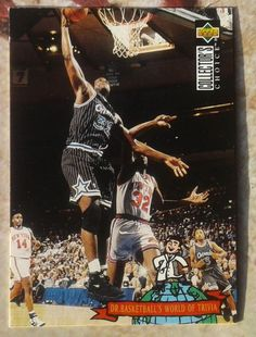1994 UD COLLECTOR'S CHOICE SHAQUILLE O NEAL # 400 DR. BASKETBALL WORLD OF TRIVIA #OrlandoMagic
