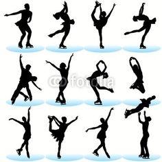 large vinyl figure skating wallmonkey for kids room