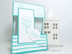 Fancy fold friday video tutorial split panel card using birthday blooms from Stampin' Up!