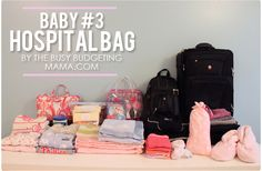 I packed way too much for the hospital! The Busy Budgeting Mama: Baby - My Hospital Bag! Has some great ideas for big sister bags and nurses gifts at the end Baby On The Way, Our Baby, Baby Boy, Mama Baby, Big Sister Bag, Baby Number 2, Babe, Preparing For Baby, Baby Makes
