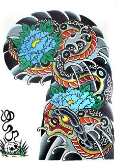 "Garyou Tensei. 108 Japanese tattoo sleeve designs by Yushi ""Hori 