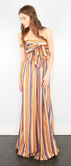 striped maxi dress. and i <3 <3 <3 the hair!