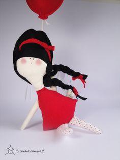 ANNABELLA - eco friendly cotton and felt kids doll - Handmade in Italy. $44.00, via Etsy.