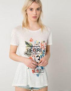 Bershka floral print t-shirt - Woman - Bershka Turkey