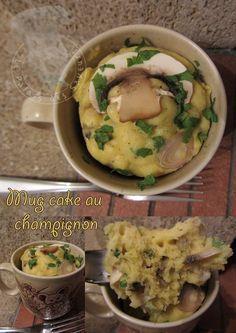 Mug cake au champignon