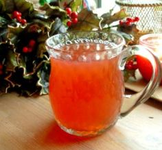 """Blushing Cranberry Cider: """"This is delicious! The spices make the drink taste and smell wonderful."""" -wicked cook 46"""
