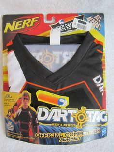 New Nerf Jersey Sz Large Extra Large Orange Official Competition Dart Tag NIP