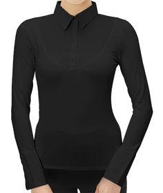 SkinnyShirt Long-Sleeve in Black