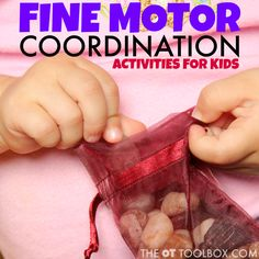 Fine motor coordination activities