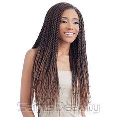 "ModelModel Synthetic Hair Crochet Braids Glance Senegalese Twist ..."""