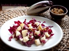 Insalata di radicchio rosso Healthy Recepies, Easy Healthy Recipes, Raw Food Recipes, Italian Recipes, Sweet Recipes, Vegetarian Recipes, Cooking Recipes, Easy Cooking, Cooking Time