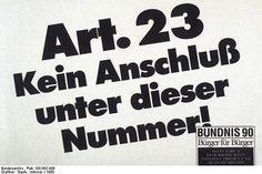 Wahlplakat des Bündnis 90 zur Volkskammerwahl 1990