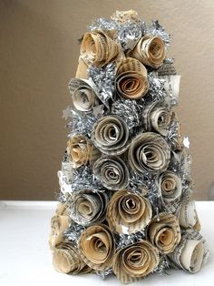 Book page rosette christmas tree ♥  #diy #meska #christmas