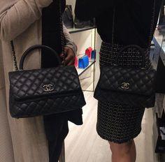 Chanel Black Coco Handle Mini and Small Bags 2  Chanelhandbags Chanel Coco  Handle, Vintage a326ab3338