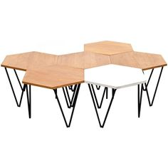 Gio Ponti Segmented Coffee Tables   From a unique collection of antique and modern side tables at https://www.1stdibs.com/furniture/tables/side-tables/