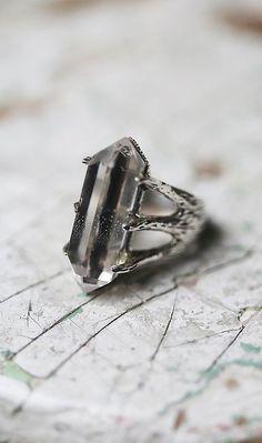 TRIBE Jewelry Crystal Talon Ring