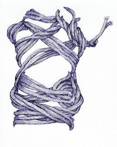 Drawing and Painting Gesture Drawing Rope Drawing, Gesture Drawing, Rope Art, 2d Design, Macrame Art, Art Archive, Art Inspo, Art Lessons, Purple