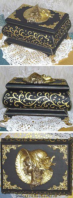 """Купить Шкатулка """"Золотой женщине!"""" - шкатулки, подарки, сувениры и подарки, подарки ручной работы"""