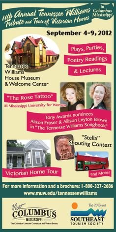 Tennessee Williams Tribute in Columbus, Miss.