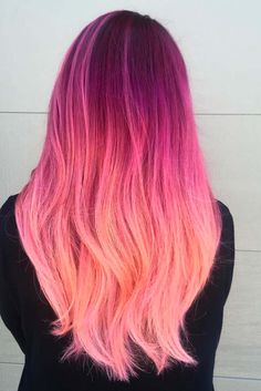 Trendy Hair Color : Pink hair is all the rage. From pretty pastel pink hair to neon pink the sky& Cute Hair Colors, Pretty Hair Color, Hair Color Pink, Hair Dye Colors, Bright Colored Hair, Bright Pink Hair, Ombre Colour, Colour Shades, Dye My Hair