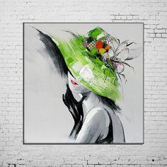 Dama con sombrero verde
