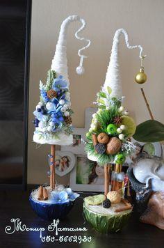 (7) Gallery.ru / Елка из конфет интерьерная. Из рафии. - Новый год - monier