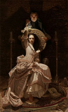 Spanish painter Arantzazu Martínez (b. Vitoria 1966) 'Dracula' and details. Oil on canvas Neo romanticism