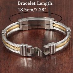 Designer 316L Stainless Steel Bracelet Cross Wristband Jewelry Bracelet Gift For Men - NewChic