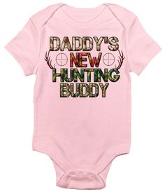 Daddy's New Hunting Buddy One-piece Baby Bodysuit