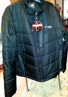 THIS is awesome. A Battery Powered ELECTRIC Jacket from COLUMBIA Sportswear Company. This Men's XL Black Omni-Heat TITANIUM Jacket uses two rechargeable lithium batteries that you plug into the jacket to keep you extra warm. Brand new and ready for you to wear all winter! :)