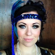 1920's hair and makeup. Olivia J WSU Tri Cities  my costume is blue!