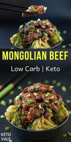 Diet Recipes Low Carb Mongolian Beef Recipe for Keto Diet - Mongolian beef – a very mysterious recipe that came to us from China. You've probably seen it in Asian restaurants especially Chinese takeaways. Here's how to make it keto-friendly. Beef Steak Recipes, Beef Recipes For Dinner, Beef Meals, Beef Recipe Keto, Sugar Free Recipes Dinner, Chicken Recipes, Cabbage Recipes, Supper Recipes, Crockpot Recipes